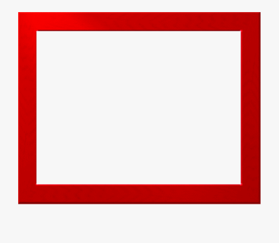 Frame png free download. Clipart border red