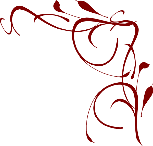 Funeral clipart scrollwork. Red corner border