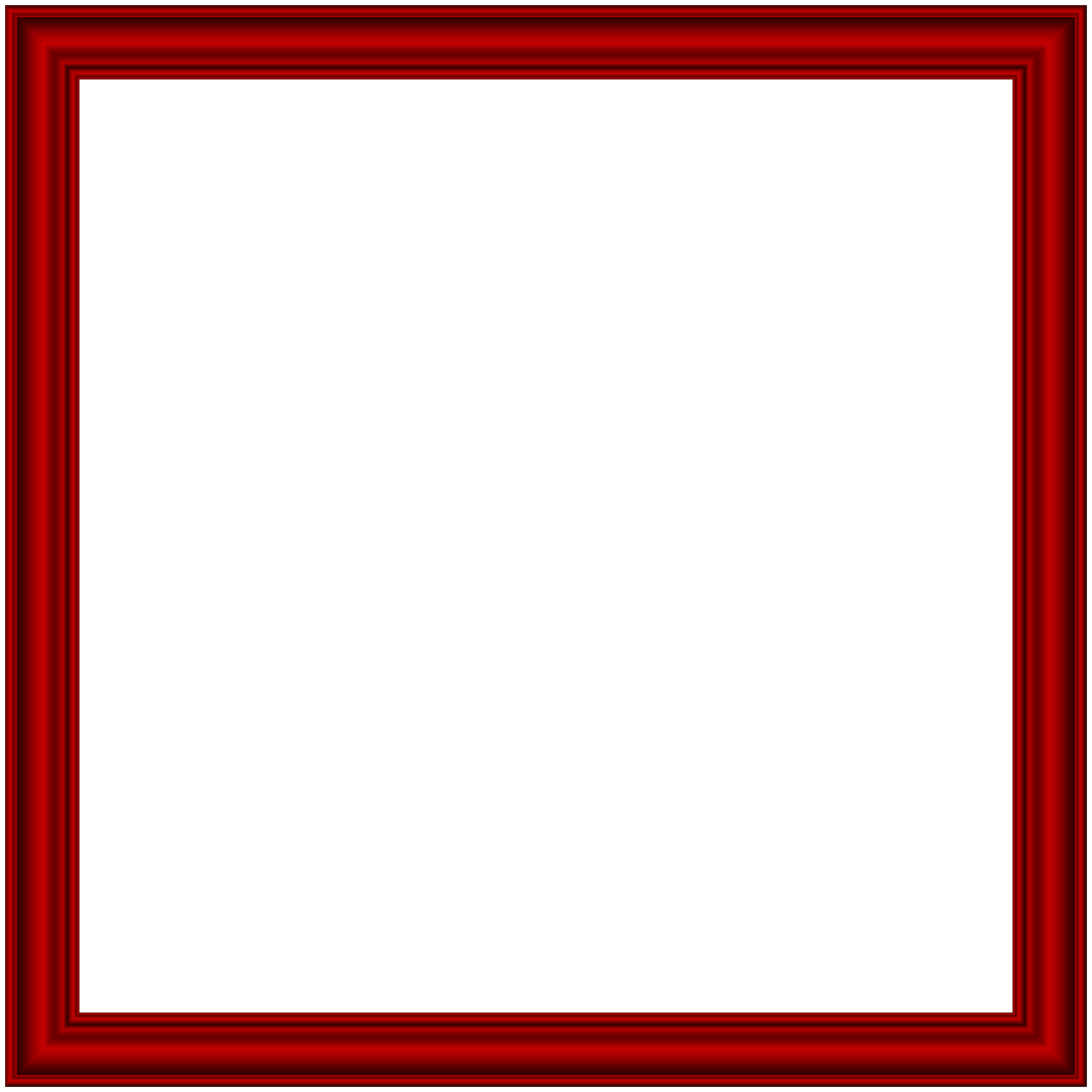 Red frame transparent png. Square clipart photograph border