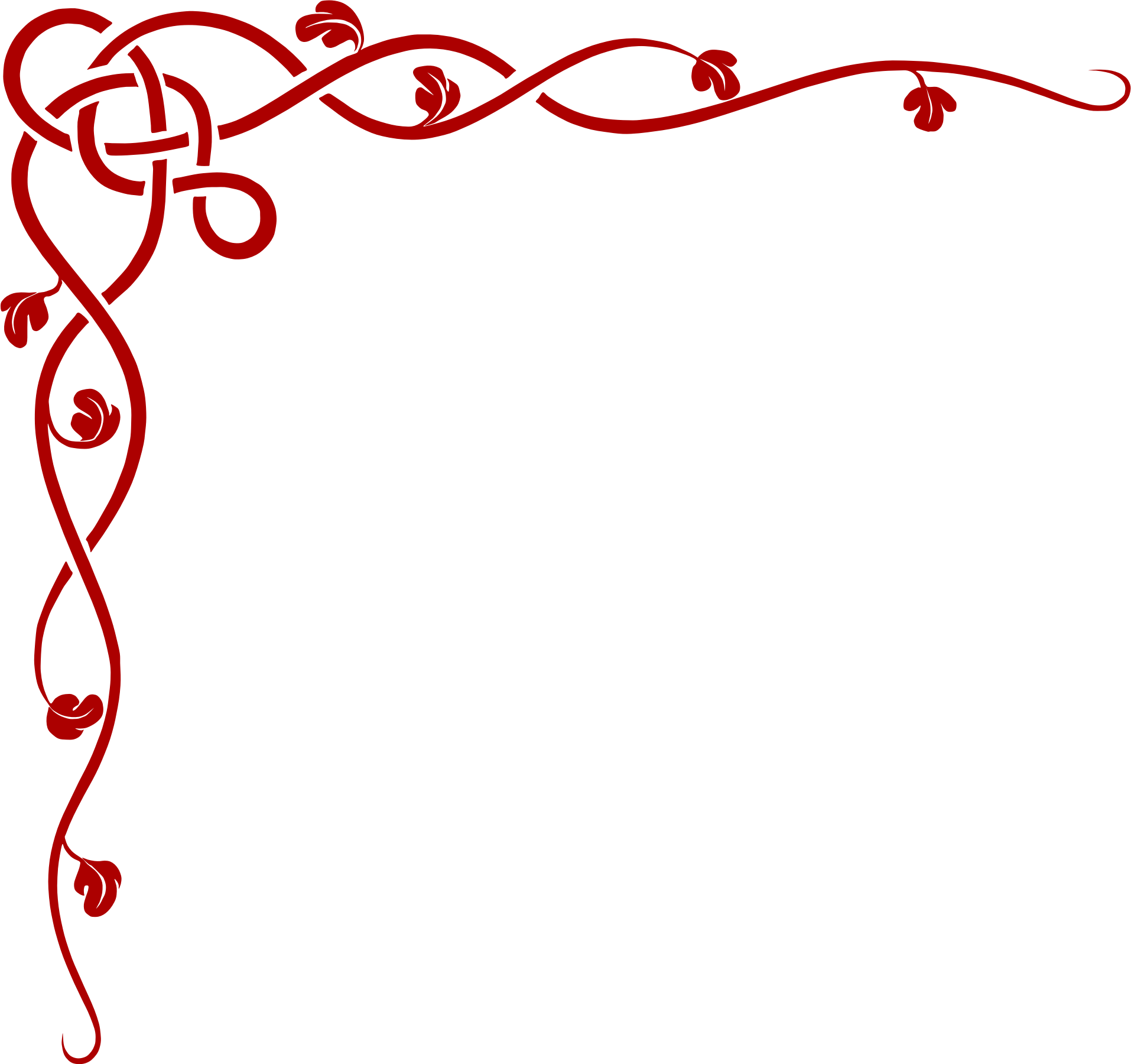 Clipart borders red. Knot corner border big