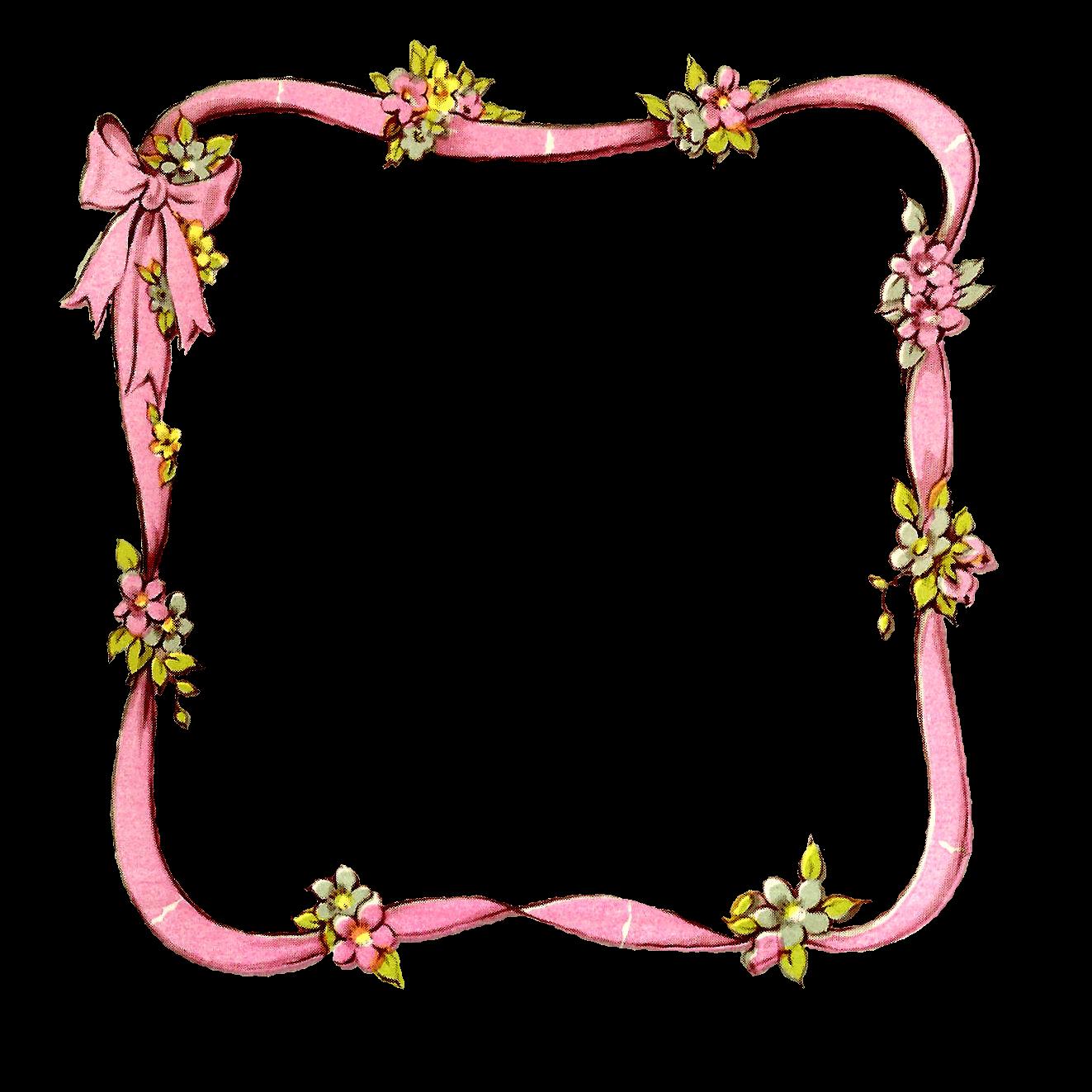 Antique images digital ribbon. Frames clipart baby girl