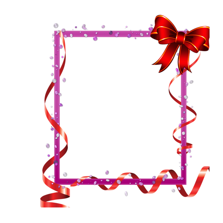 Red with ribbons and. Clipart frame ribbon