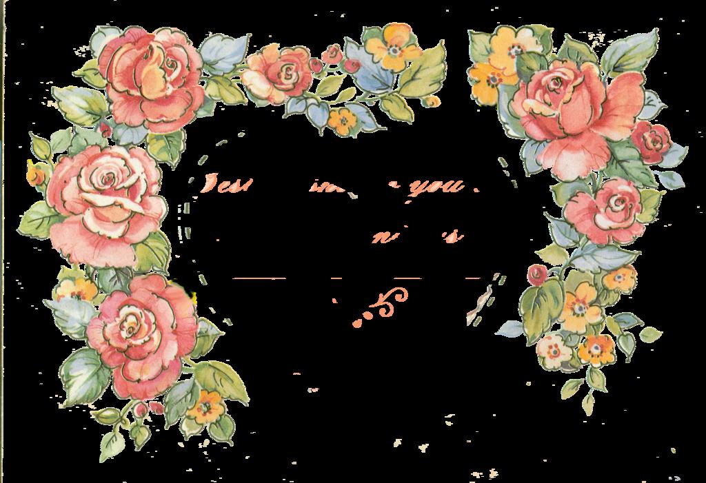 Jinifur border roses by. Rose clipart borders