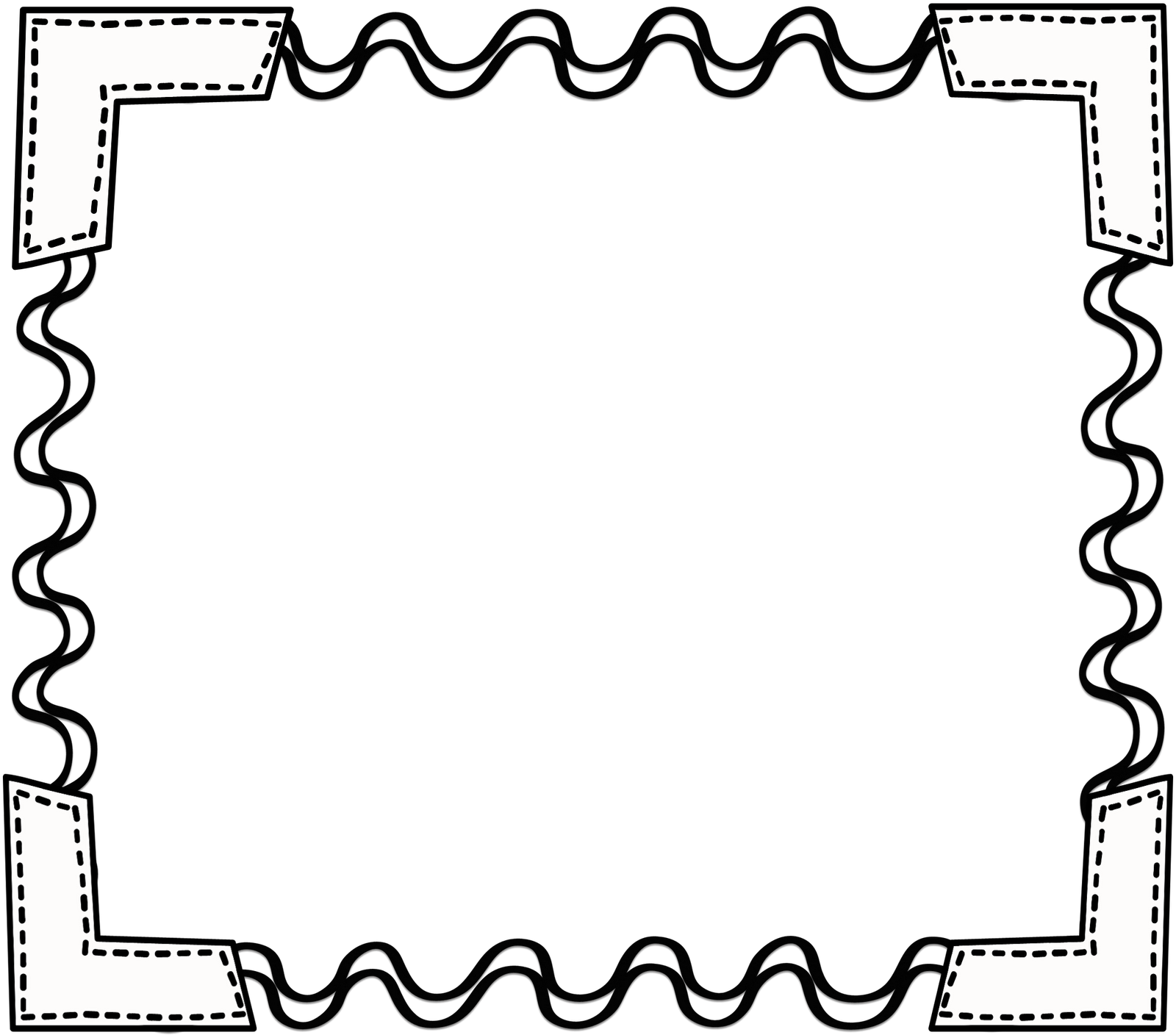 Yearbook clipart border. Black white scribbleframe png