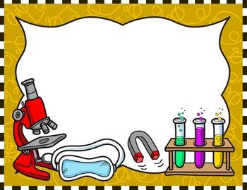 Clipart frames science. Kids borders set