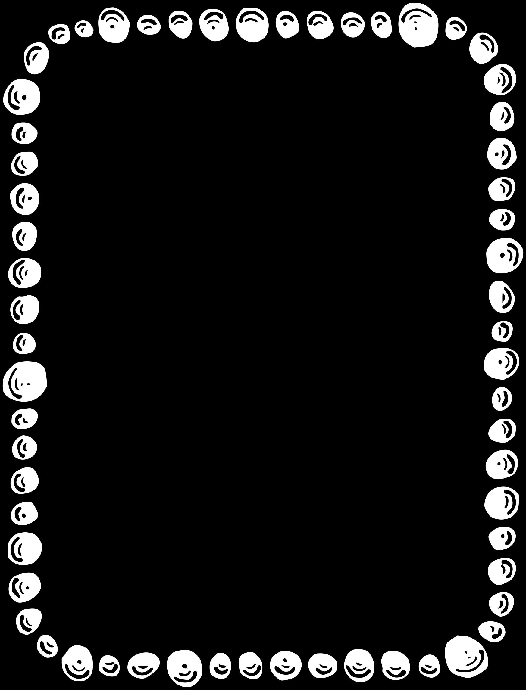 Pebble border big image. Clipart frames science