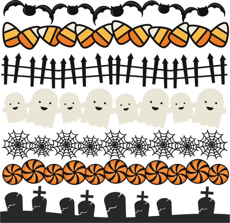 Halloween border png. Borders set svg scrapbook