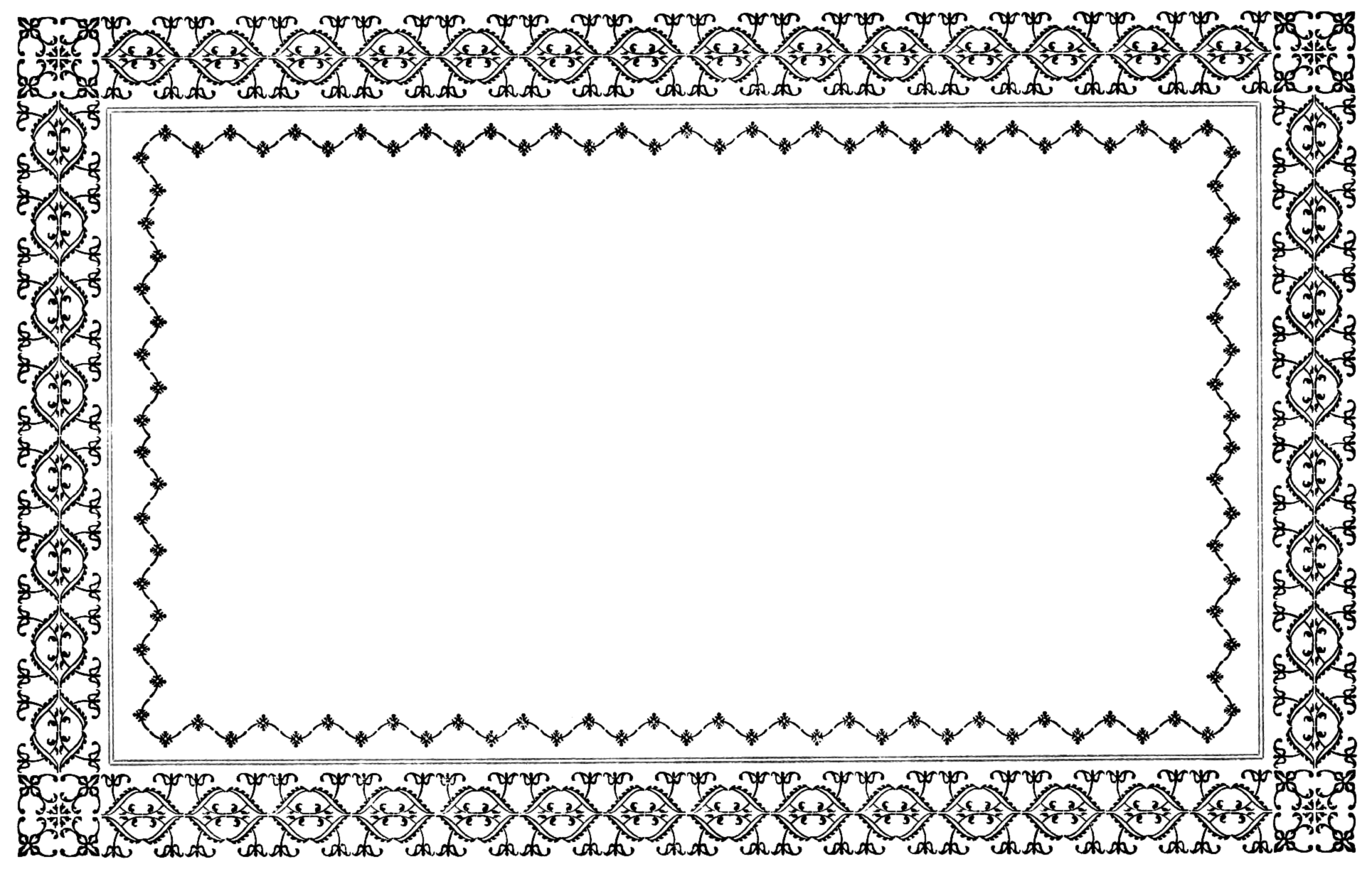 Free vintage border clip. Funeral clipart borders