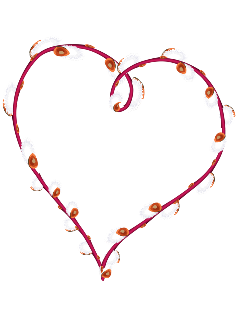 Willow heart isolated by. Frame clipart shape