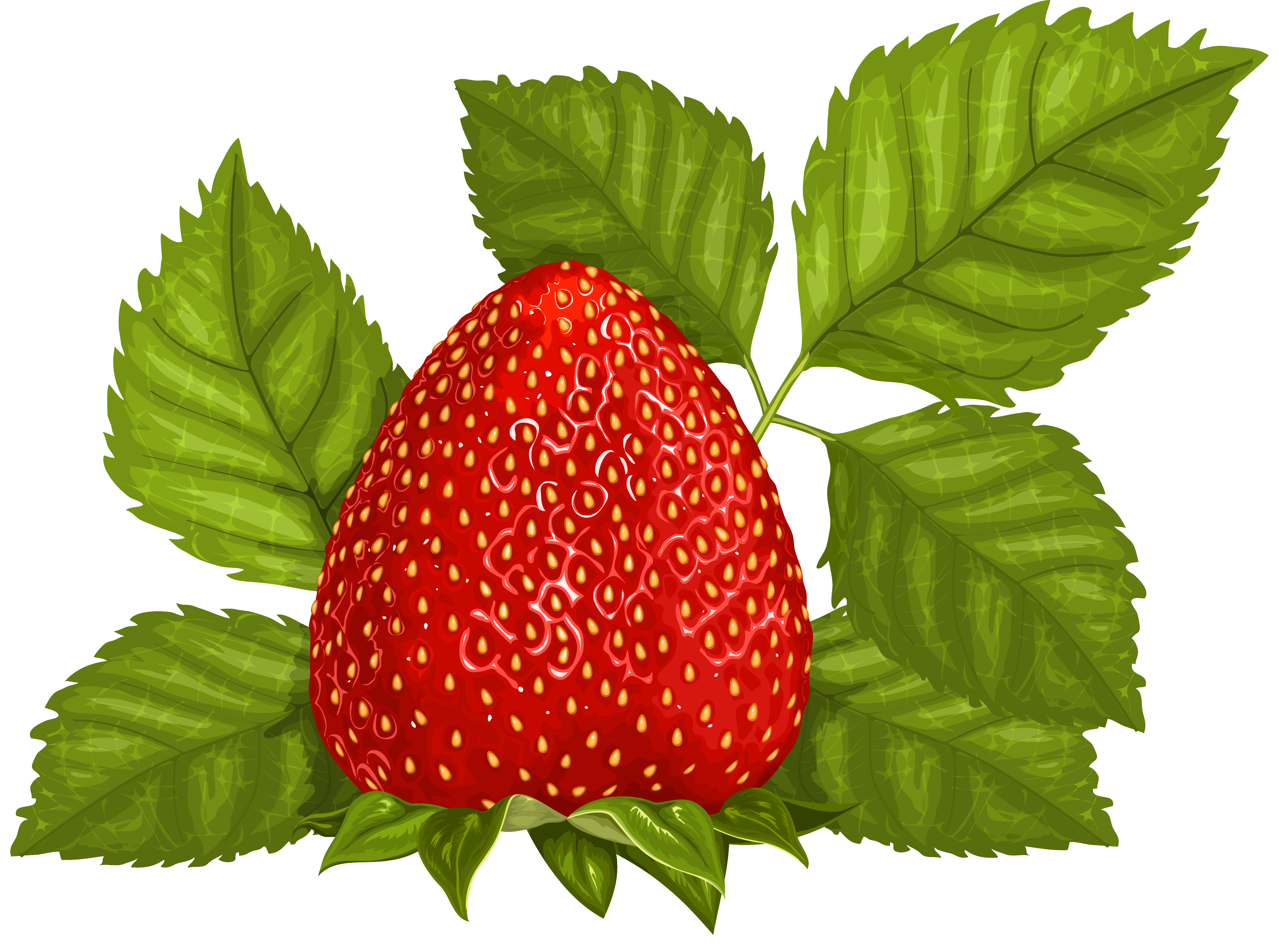 Strawberry with leaves png. Muffins clipart mom clipart