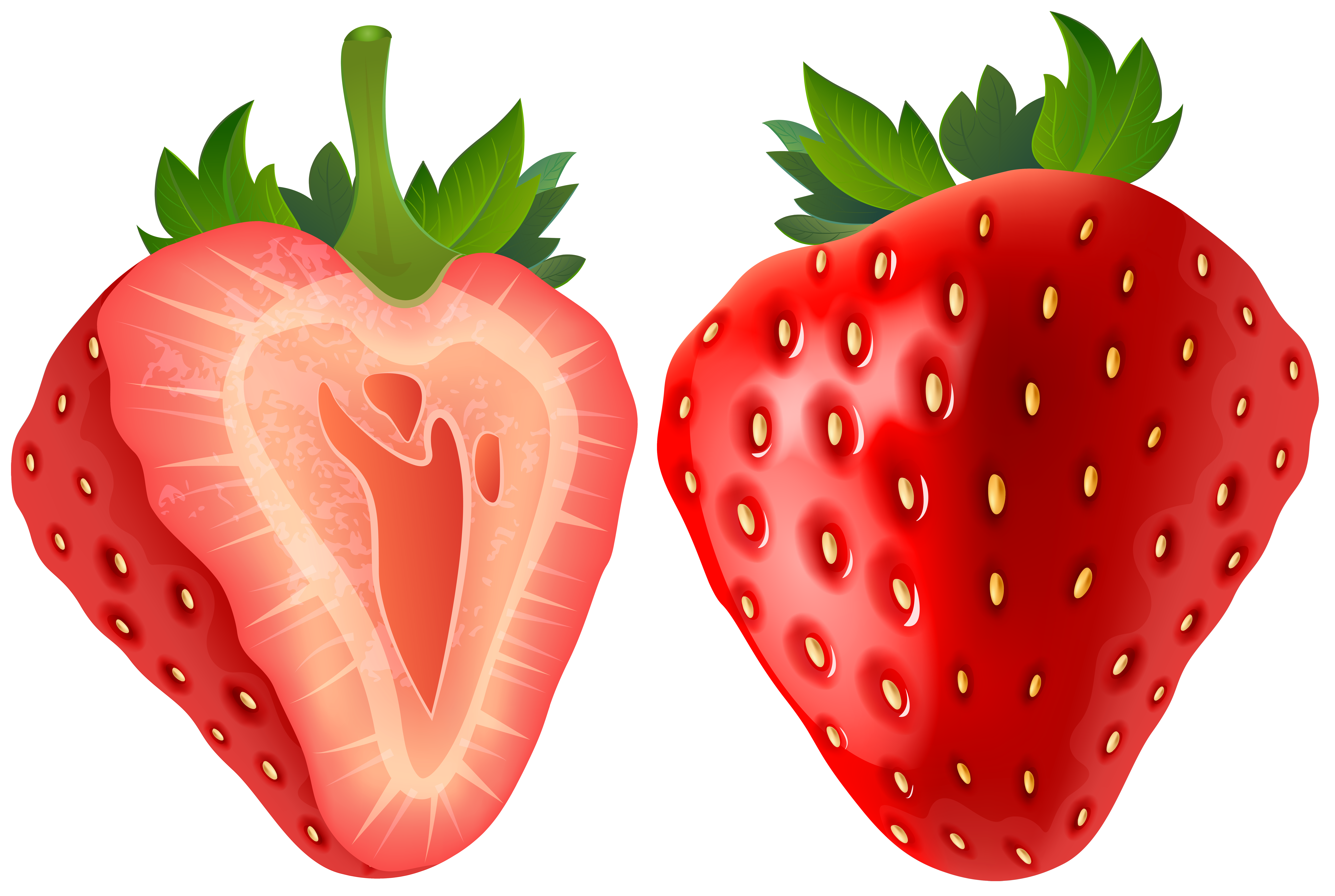 Fruit clipart strawberry. Transparent png clip art