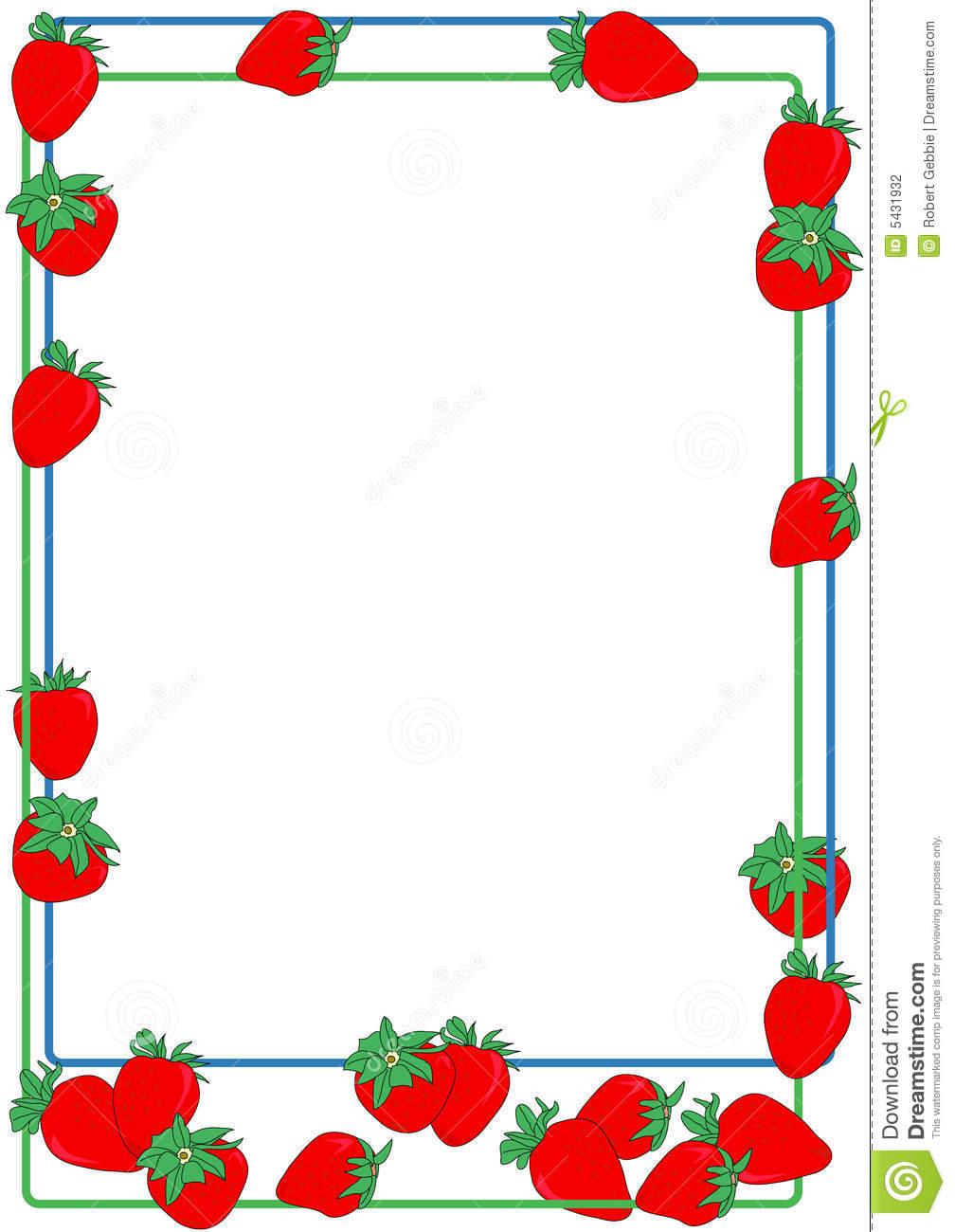 Strawberries clipart borders. Strawberry border panda free