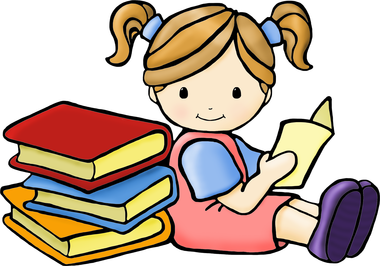 Clipart writing partners. Beautiful of students reading