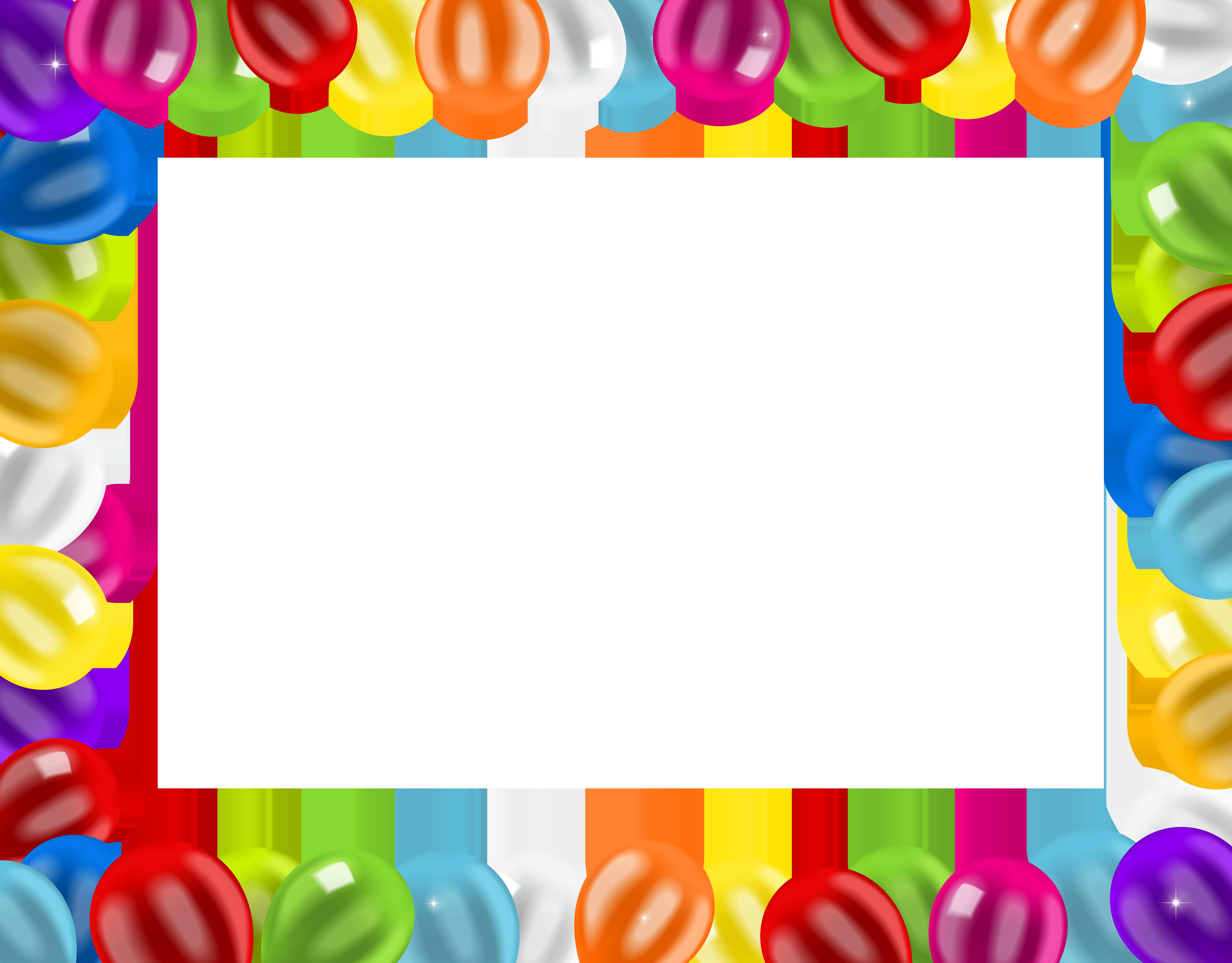 Balloon clip art border. Donut clipart frame
