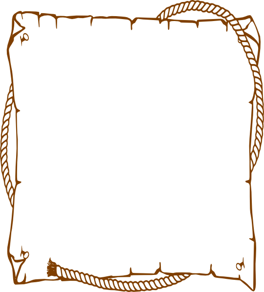 Free western frame cliparts. Rope border png