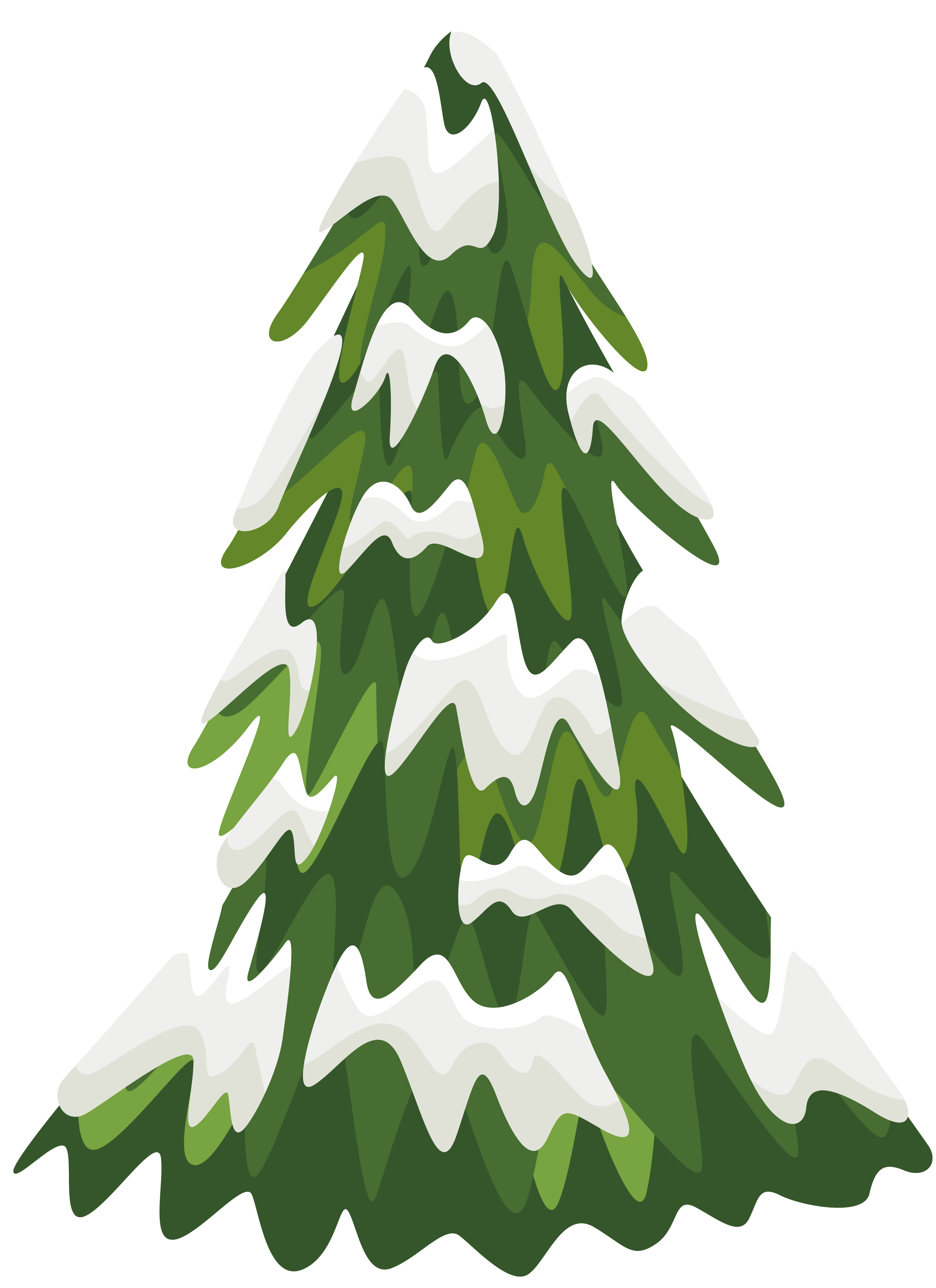 Tree clipart face. Snowy pine png image