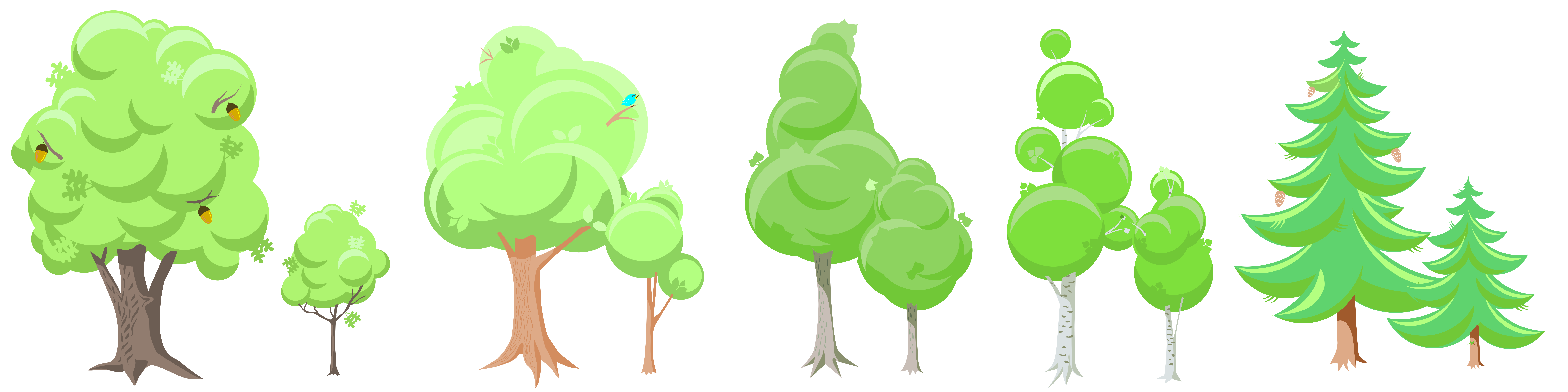 Clipart tree season.  collection of trees