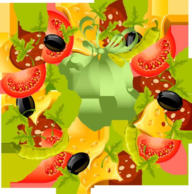 clipart fruit wreath