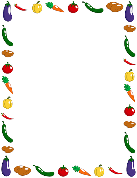 Vegetables clipart boarder. Pin by muse printables