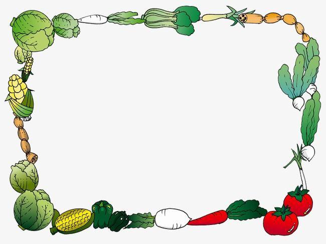 Border frame png transparent. Vegetables clipart boarder