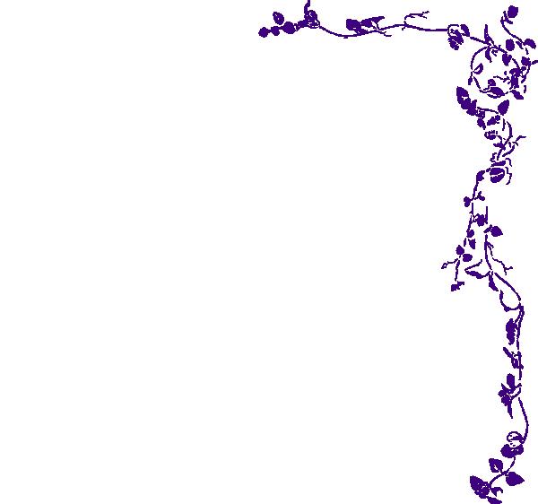 Purple border png. Vine clip art at