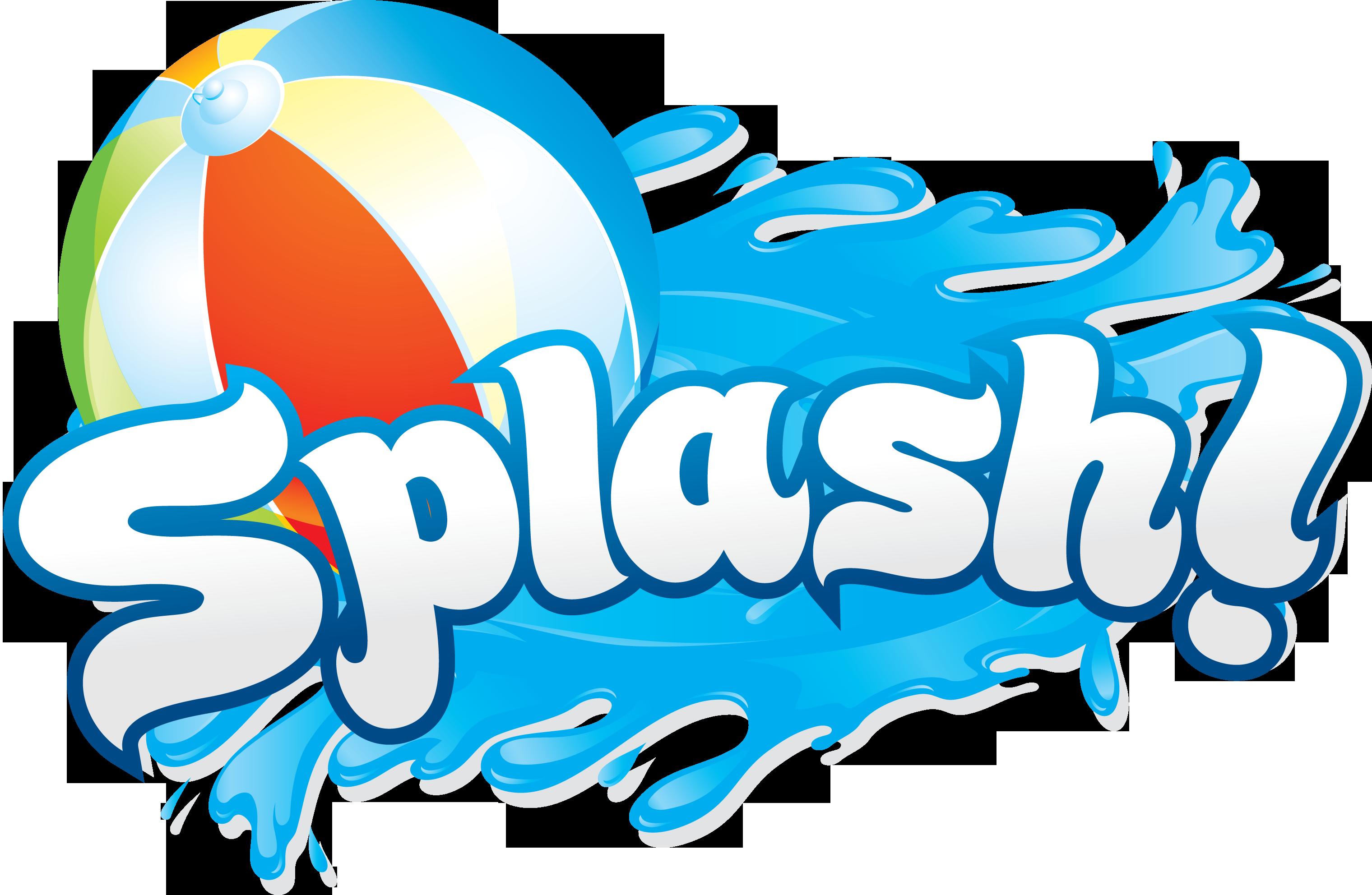Splash panda free images. Clipart border water