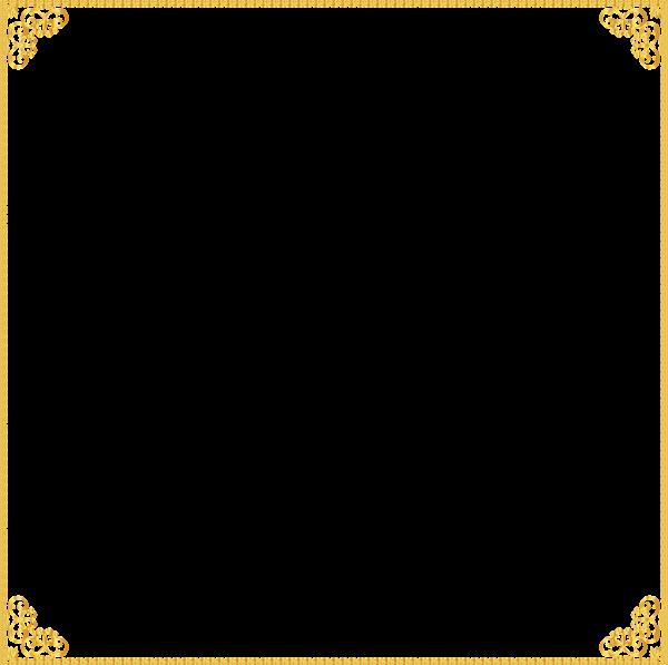 Golden frame transparent clip. Playdough clipart border