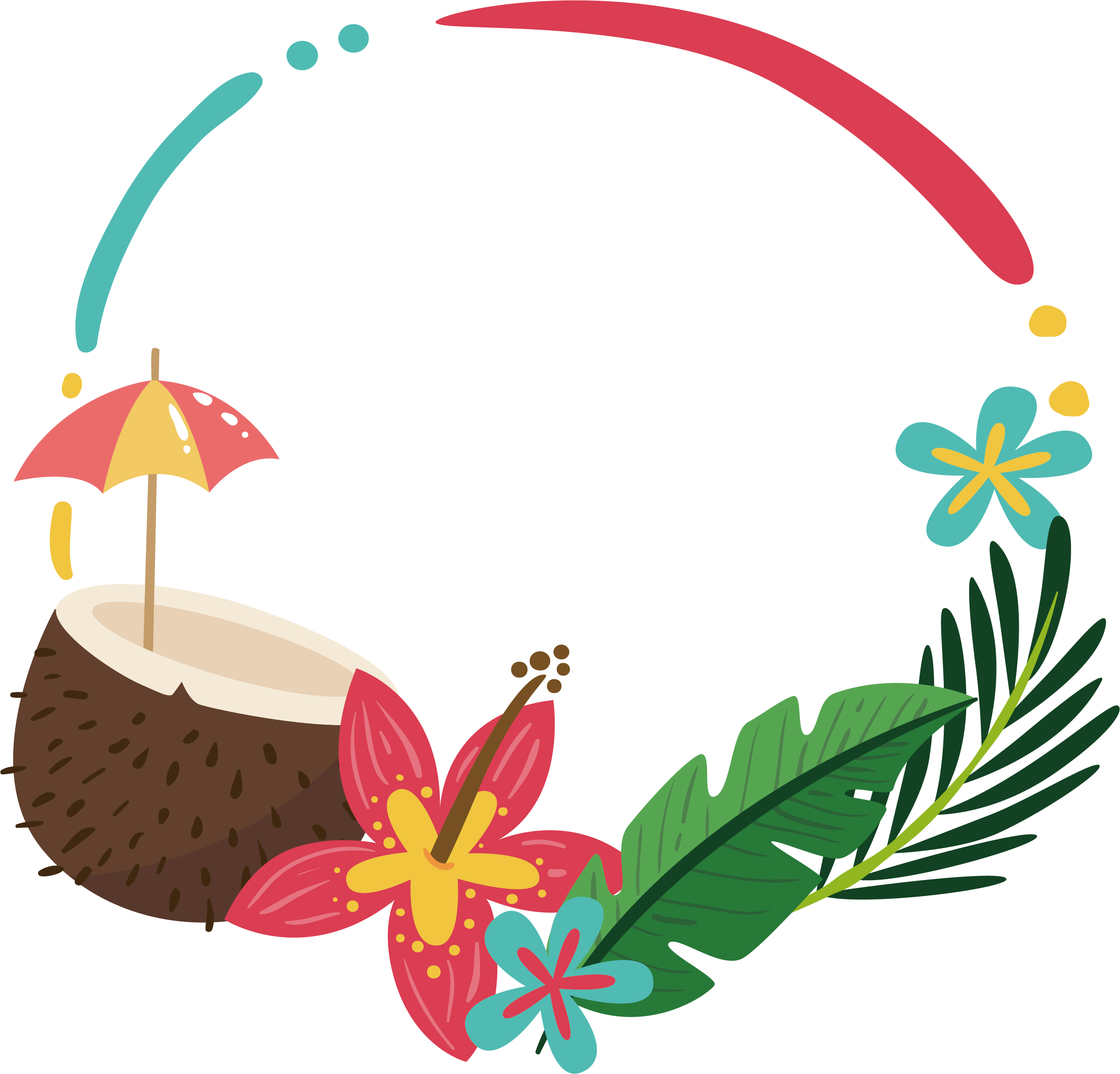 Peppers clipart border. Clip art coconut palm