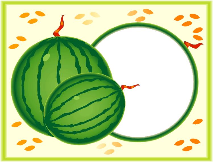 Watermelon clipart green squash. Picture frame letter alphabet