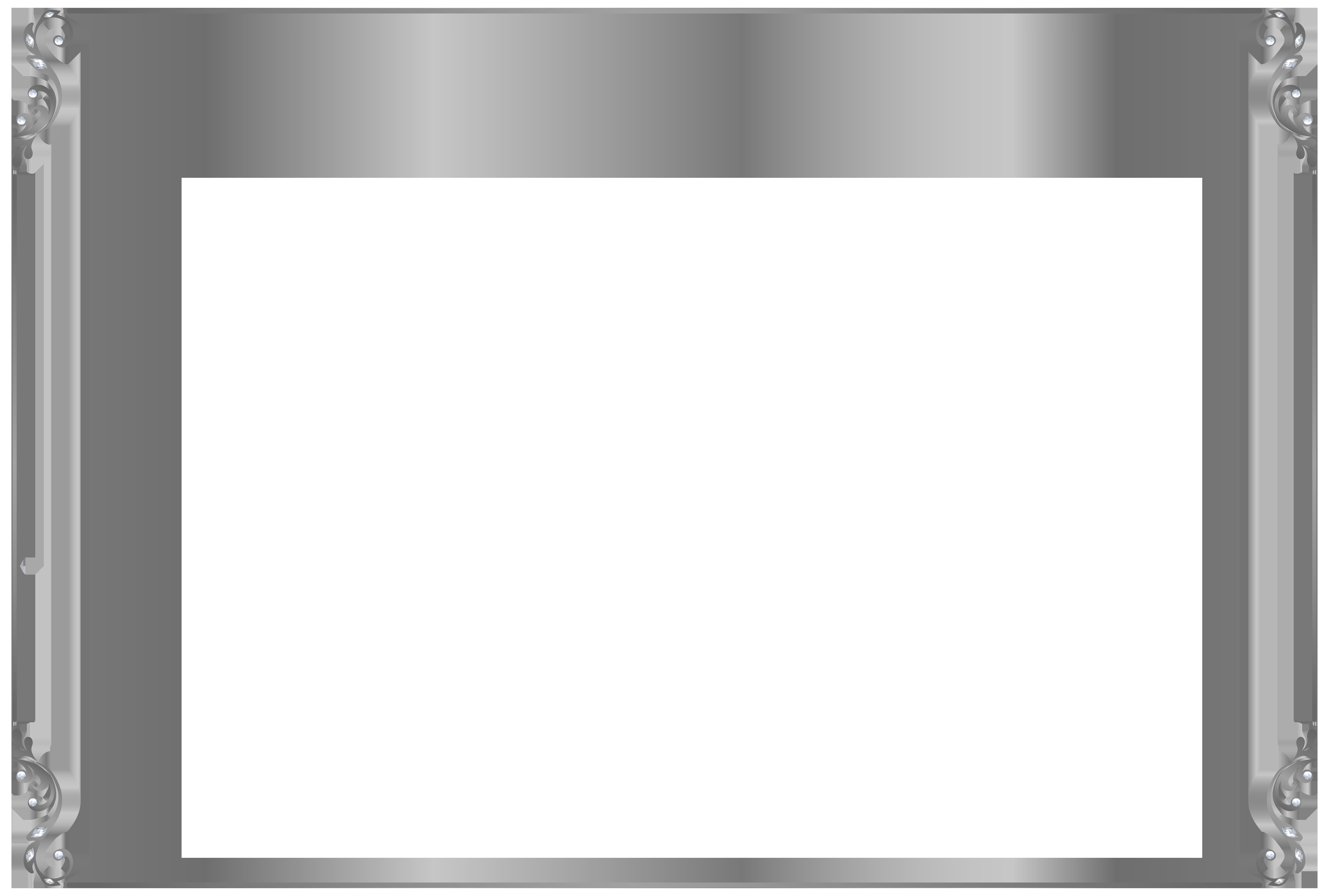 Silver border png. Frame clip art image