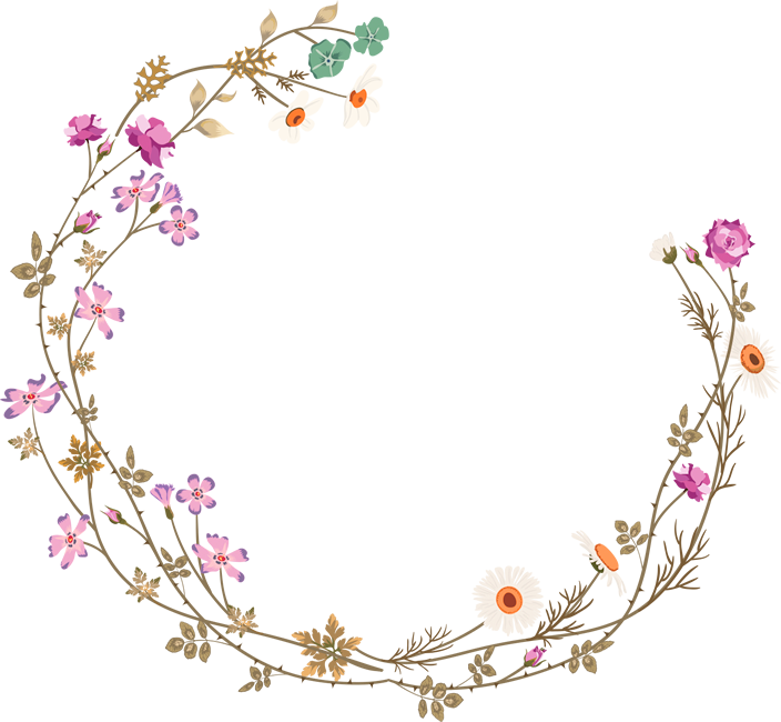 And frames picture frame. Clipart borders wildflower