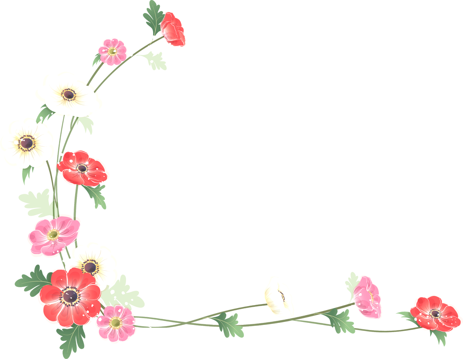 And frames flower watercolor. Clipart borders wildflower