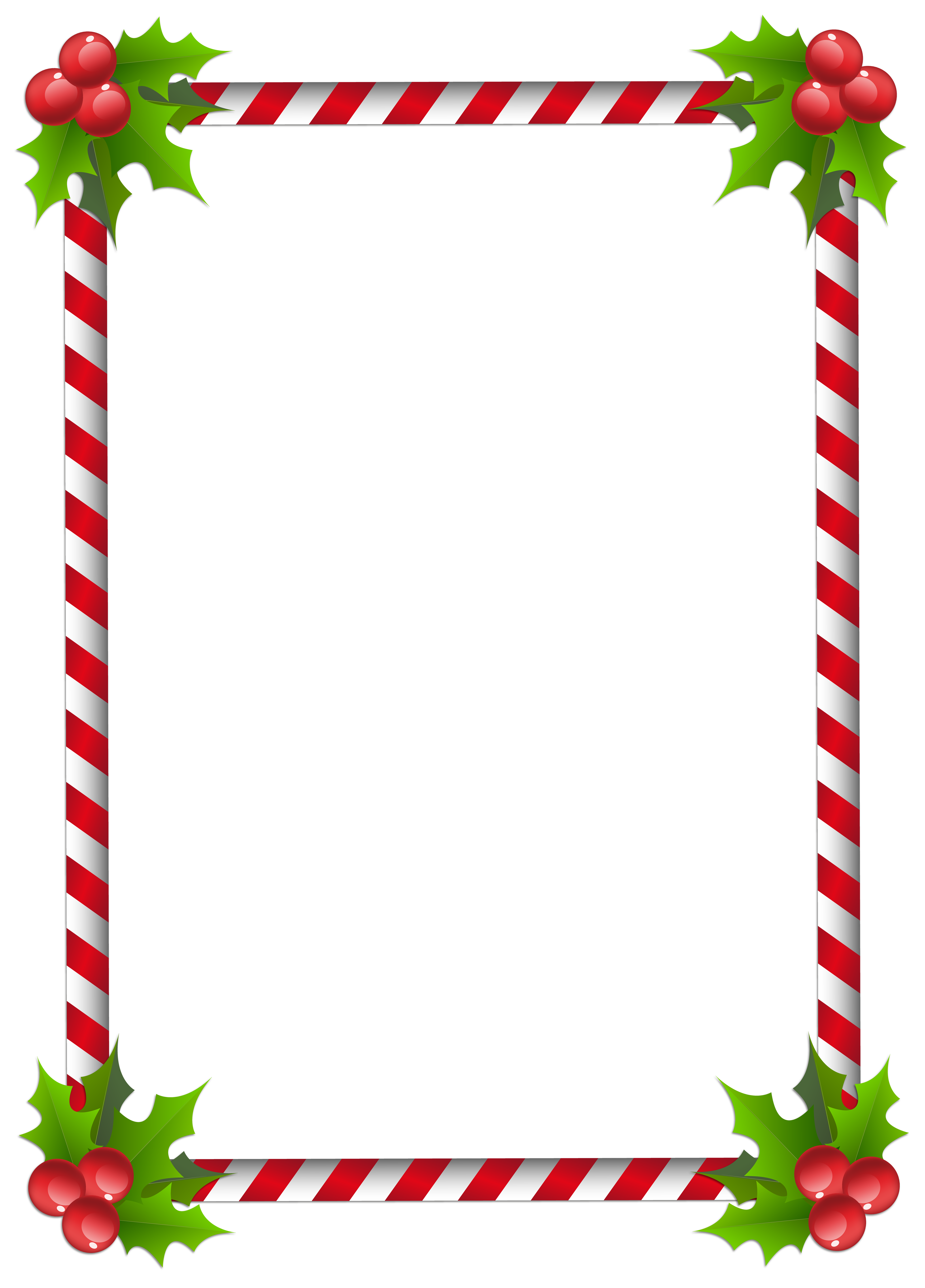 Christmas transparent classic frame. Holiday border png