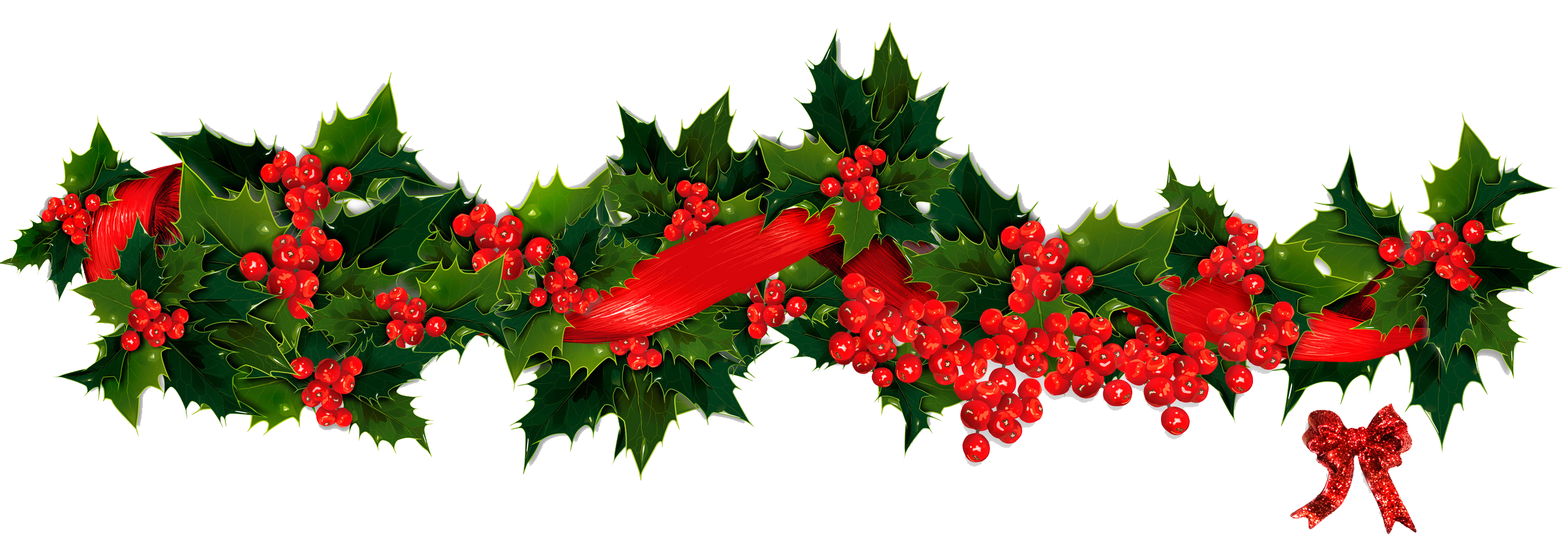 Christmas holly border png. Swag clipart transparent pencil