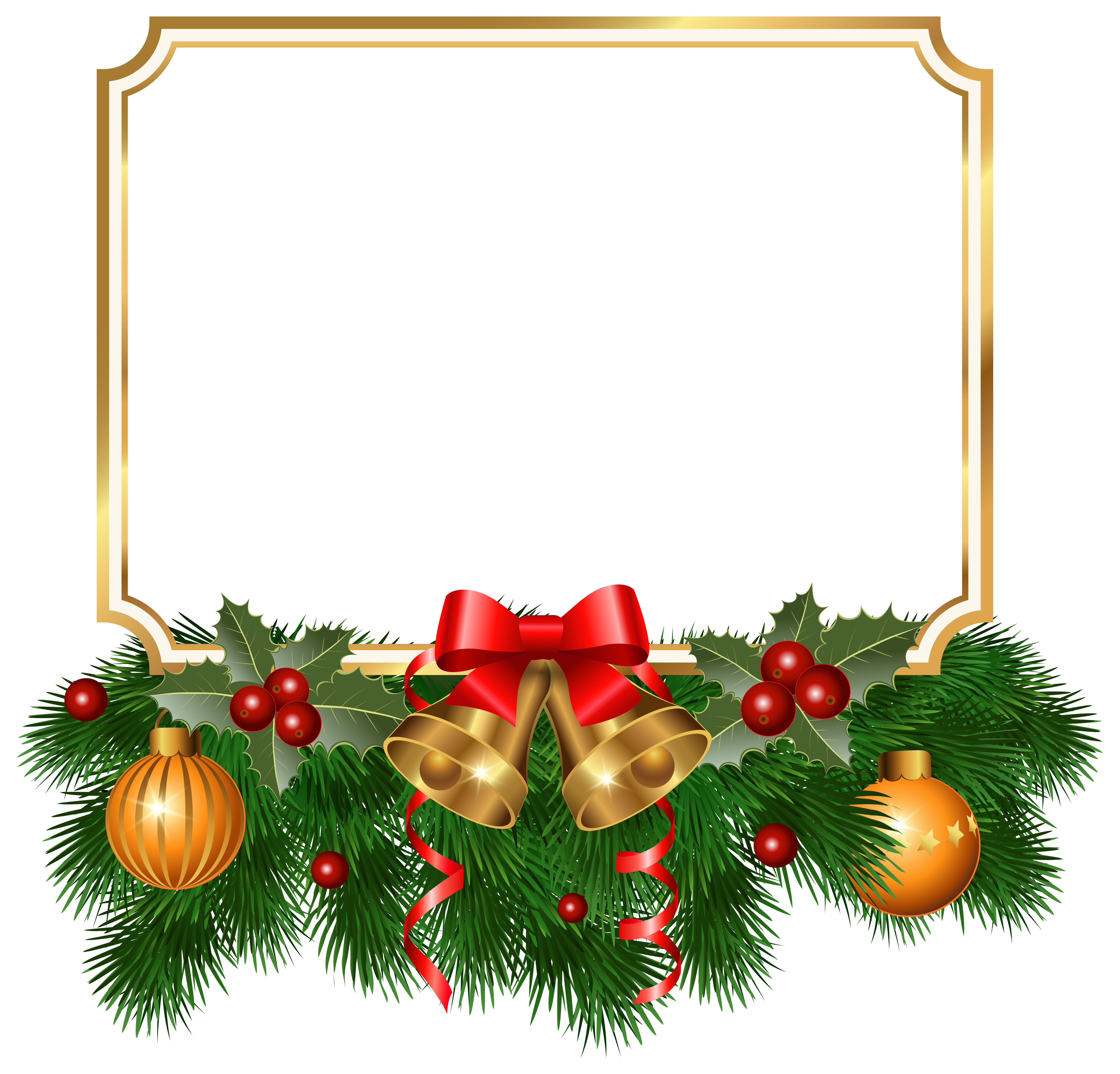 Golden clipart image gallery. Christmas border png