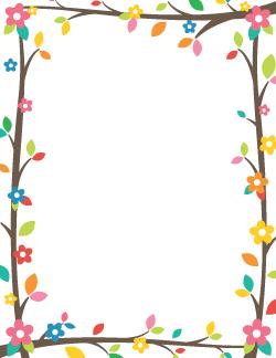 Free spring clip art. Clipart borders april