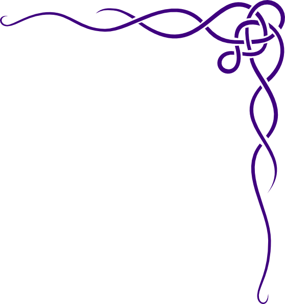 Celtic knot purple clip. Patience clipart border