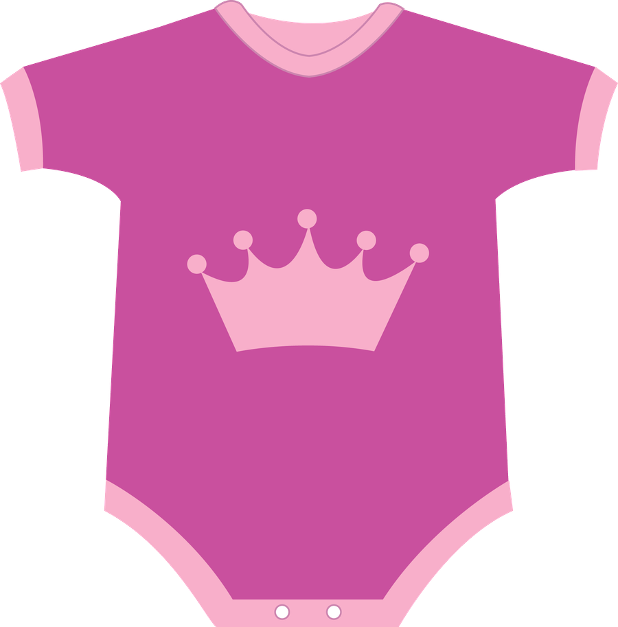 Pajamas clipart baby romper. Pink onesie pencil and