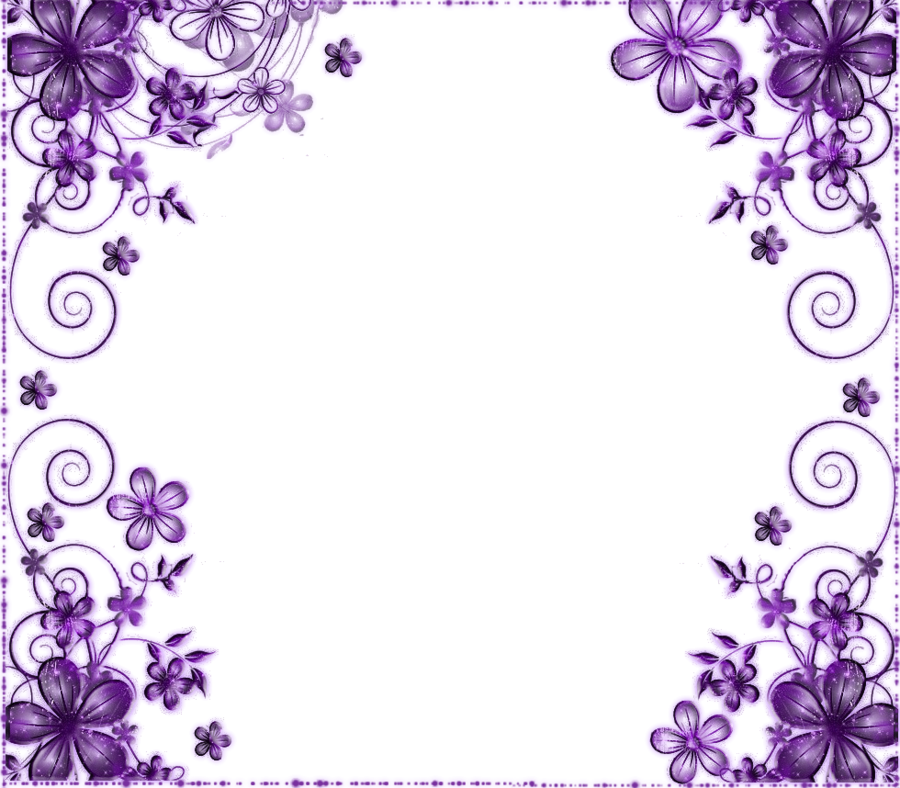 Clipart wedding element. Lavender background invitation border