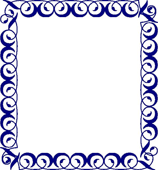 Frame png clip art. Clipart borders blue