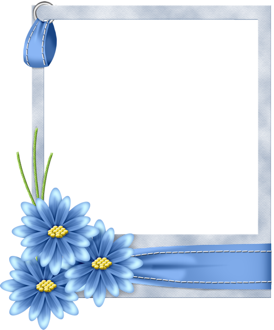 Clipart frame blue flower. Flo gallery yopriceville high