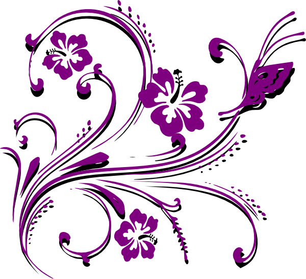 Clipart wedding design. Purple butterfly border panda
