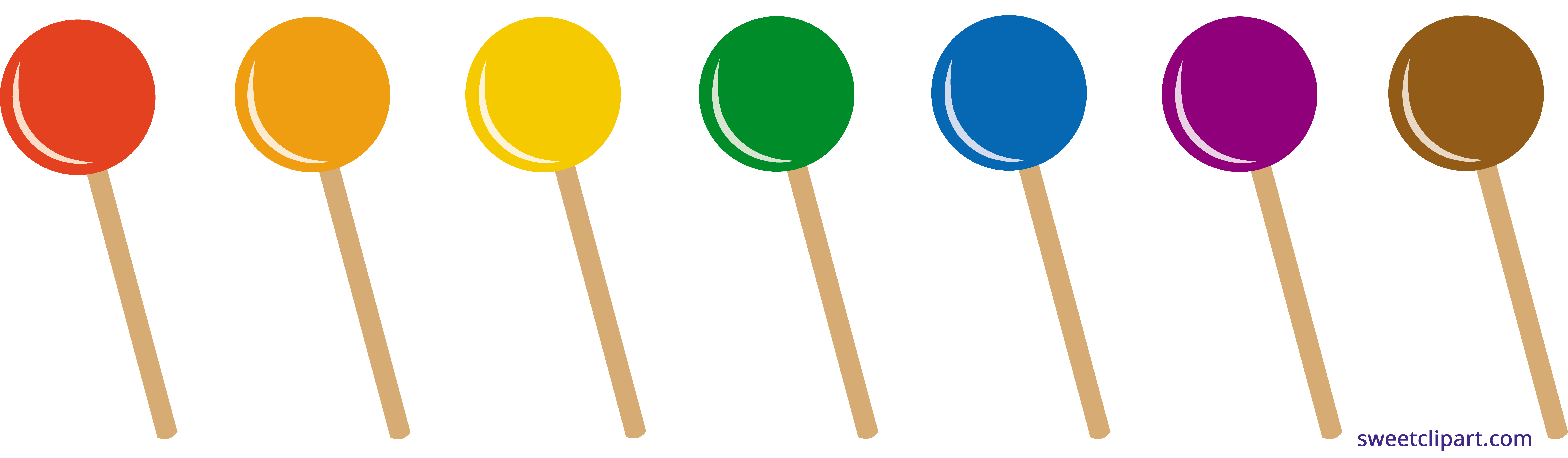 Lollipops set sweet clip. Clipart car candy