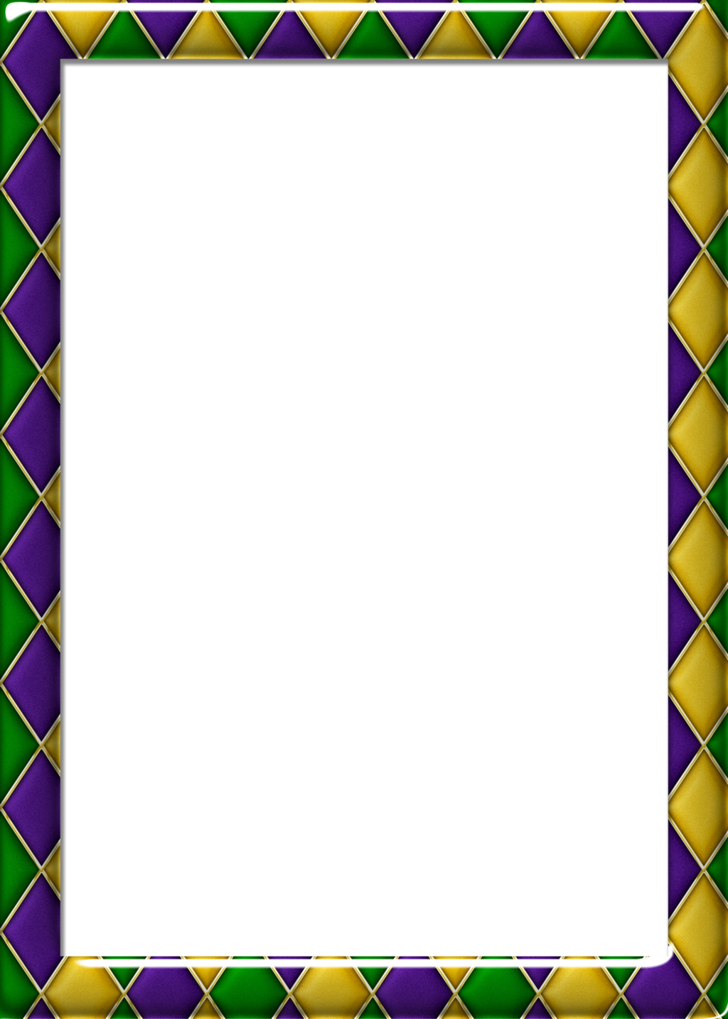 Free x harlequin pattern. Mardi gras border png