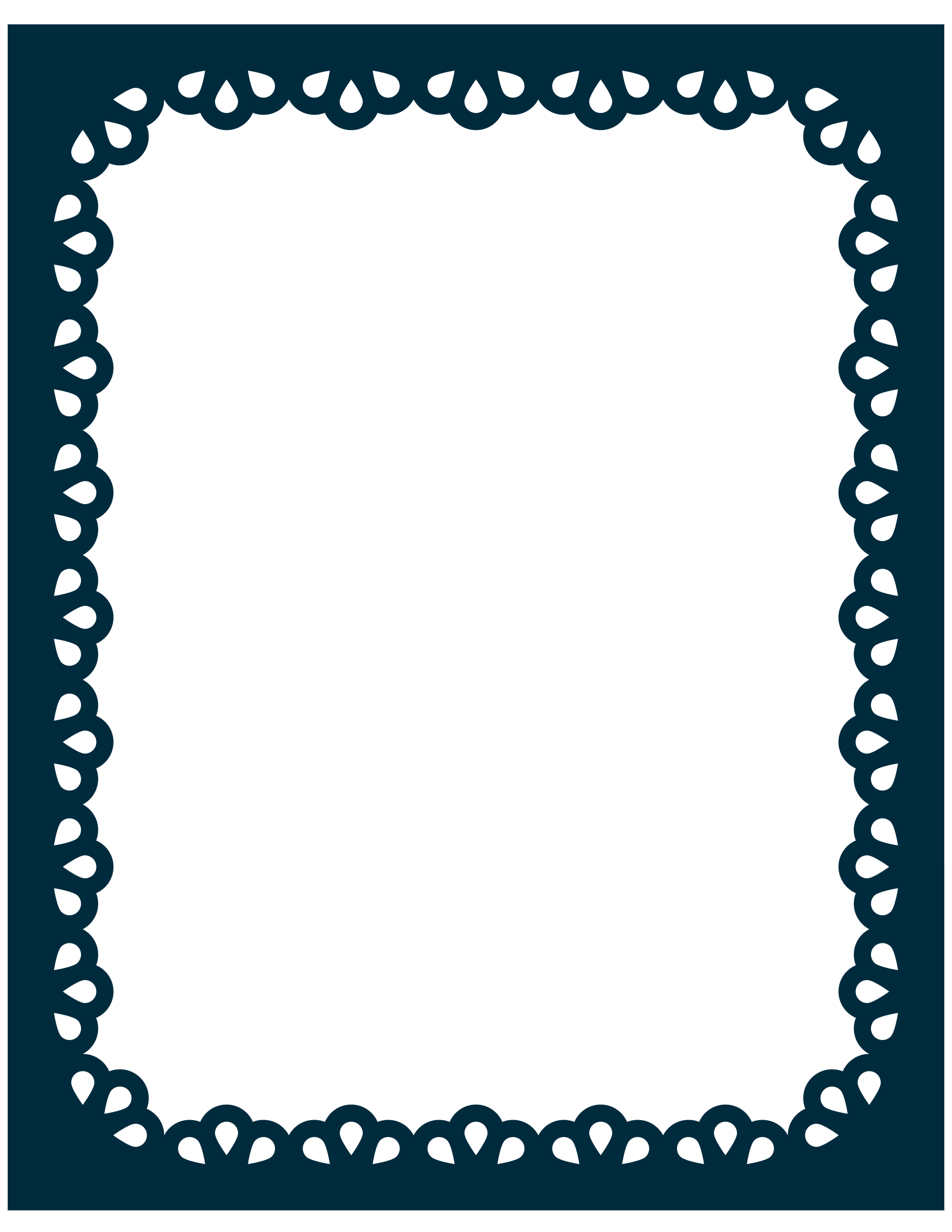 Scalloped border png. Clipart scallop frame big