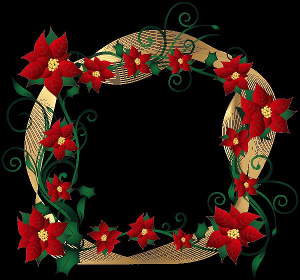 Christmas decorative border transparent. Clipart winter wreath