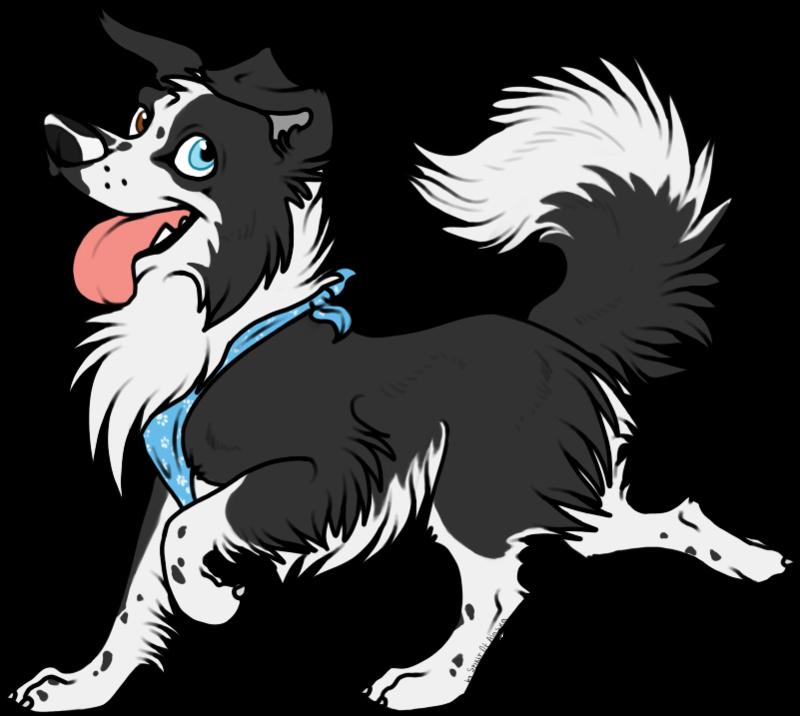 Clipart dog boarder. Border collie by spirit