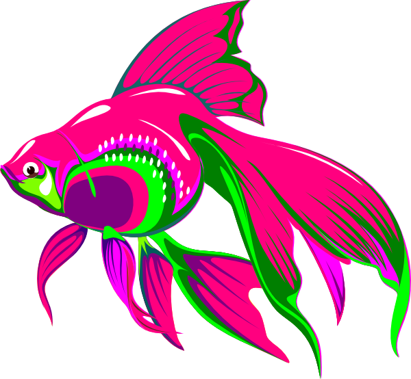 Fish clipart pink. Gold clip art at