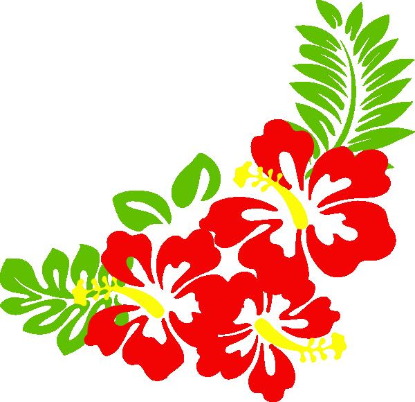 Hawaiian clipart christmas. Flower clip art borders