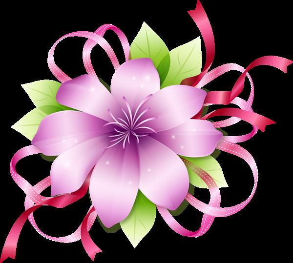 Floral clipart fuschia. Pink flower border clip